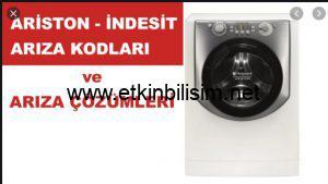 Ariston, İndesit Çamaşır Makinaları Hata kodları Ve Açıklamaları