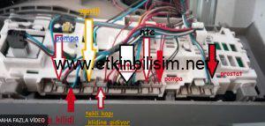 Vestel CMH XXL 8412 Çamaşır Makinası Kablo Şeması